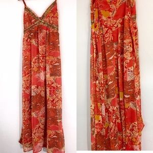 Forever 21 -Long Floral 🌸 Maxi Dress